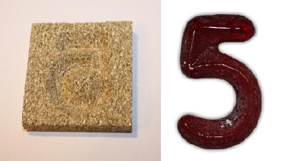 Form aus Vermiculite Zahl 5