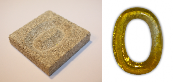Formen aus Vermiculite Zahlen 0-9