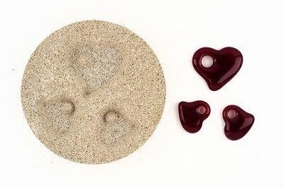 Vermiculiteform drei Herzen