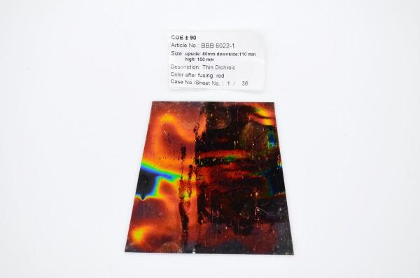 Baoli dünn dichroic auf schwarz, Regenbogen Form KOE 90, 1mm