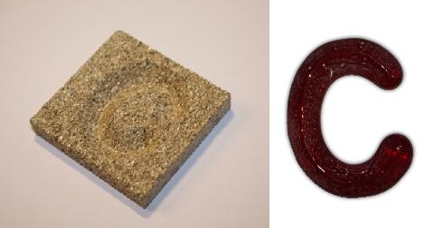 Form aus Vermiculite Buchstabe C