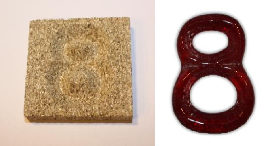 Form aus Vermiculite Zahl 8