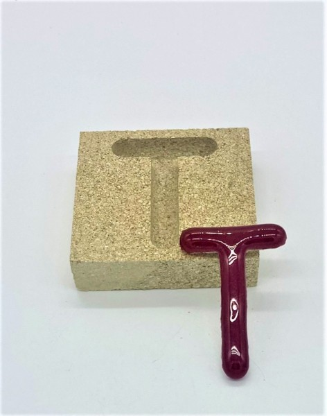 Form aus Vermiculite Buchstabe T