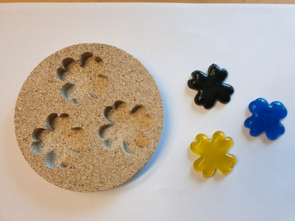 Vermiculiteform drei Kleeblätter
