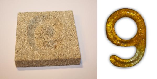 Form aus Vermiculite Zahl 9