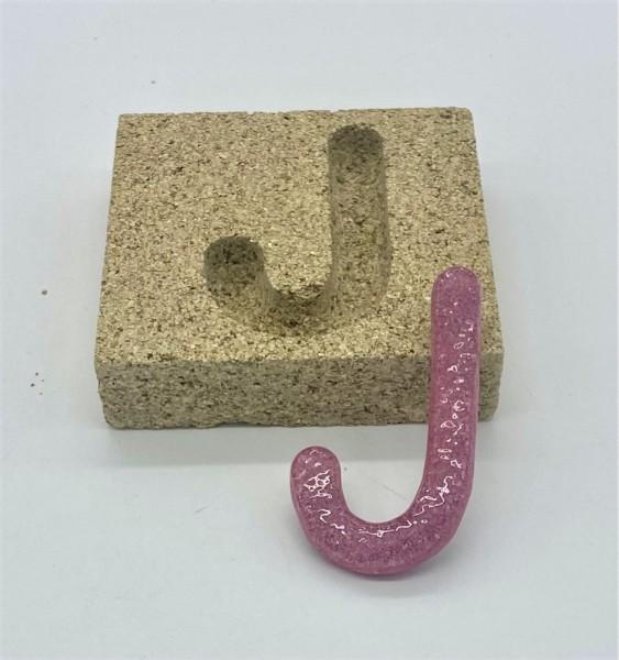 Form aus Vermiculite Buchstabe J