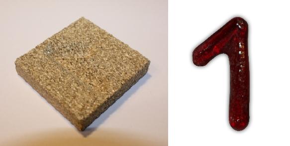 Form aus Vermiculite Zahl 1