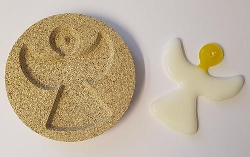 Vermiculiteform Engel Anhänger