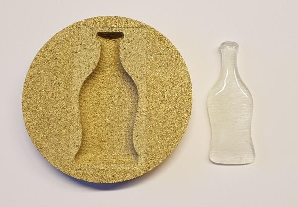 Vermiculiteform Flasche
