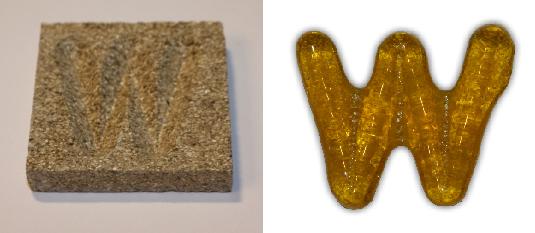 Form aus Vermiculite Buchstabe W