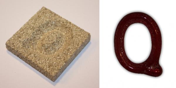 Form aus Vermiculite Buchstabe Q