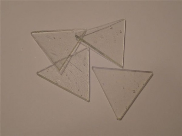 Dreieck, klar, 5,5cm
