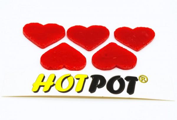 Herz, opal rot, 3cm