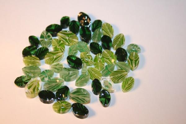 Millefiori Mixed Green Leaves 50g, COE 90