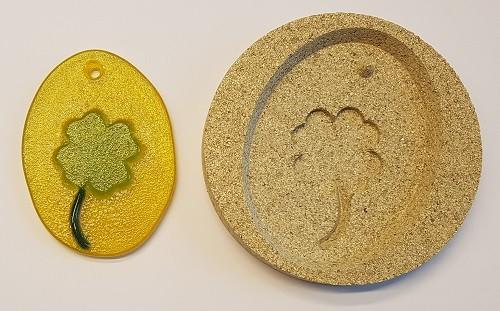 Vermiculiteform Kleeblatt