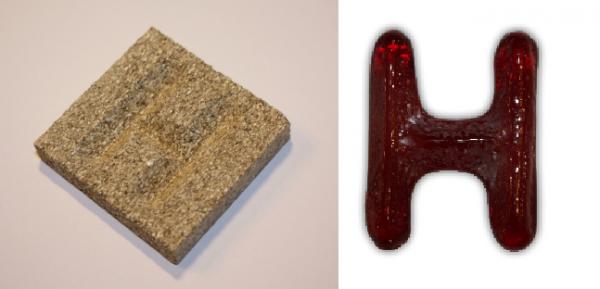 Form aus Vermiculite Buchstabe H