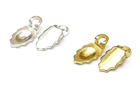 Aanraku ® versilberte Ohrringkösen klein 12 Paar