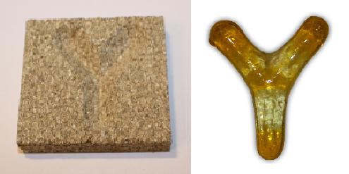 Form aus Vermiculite Buchstabe Y