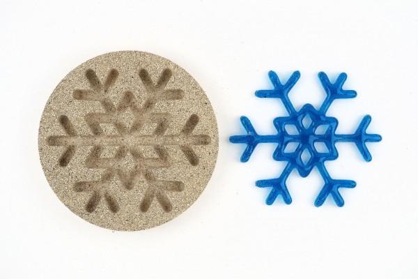 Vermiculiteform Eiskristall