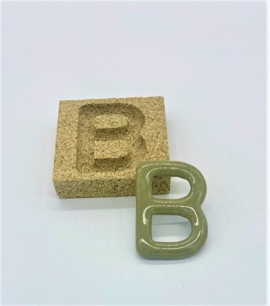 Form aus Vermiculite Buchstabe B