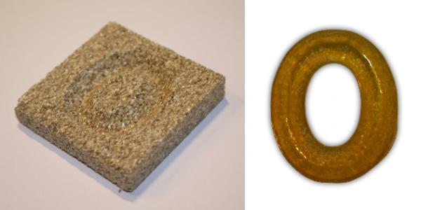 Form aus Vermiculite Buchstabe O