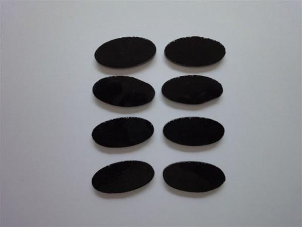 Oval, schwarz, 3,5cm