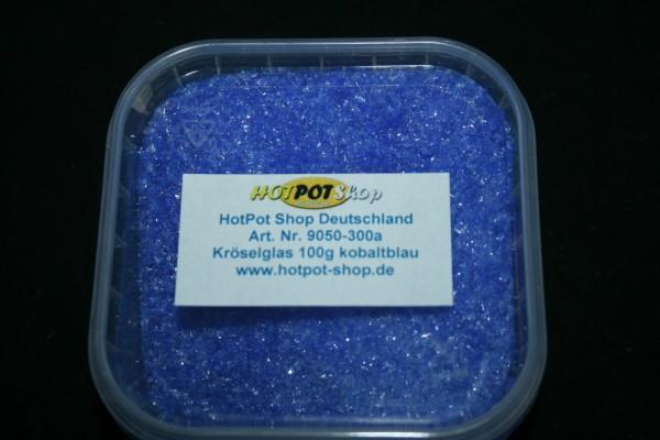 Glaskrösel fein 100g kobaltblau