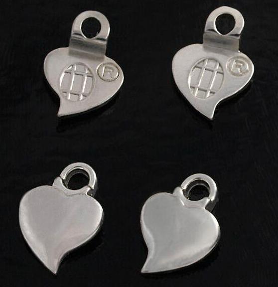 Aanraku ® 18k versilberte Ohrringanhänger Herz klein 12 Sets