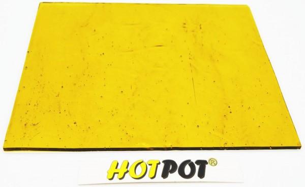 Glas, hell, Bernsteinfarbend 3mm KOE 90 (200x180mm)