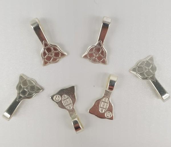 Aanraku ® versilberte Schmuckösen keltisch klein 25 Stück
