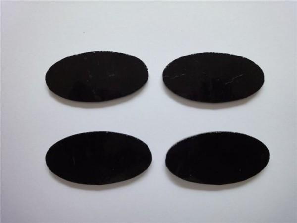 Oval, schwarz, 5,5cm