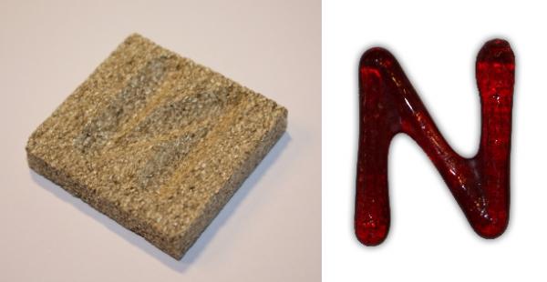 Form aus Vermiculite Buchstabe N