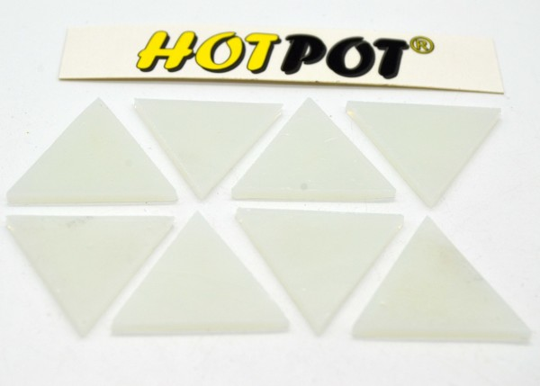 Dreieck weiß 3,5cm KOE 90, 8 Stück