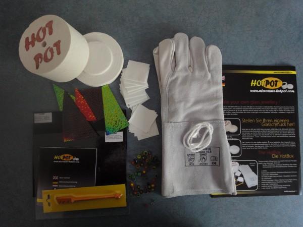 HotPot Starter Set mit HotPot Standard Mikrowelle Brennofen, Schmelzglas Schmuck Set