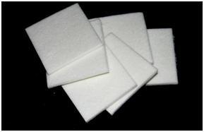 Biolösliches Faserpapier 3x 75 x 75mm ( 10 Stück)