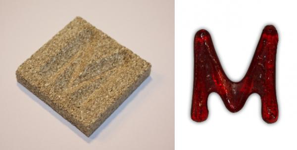 Form aus Vermiculite Buchstabe M