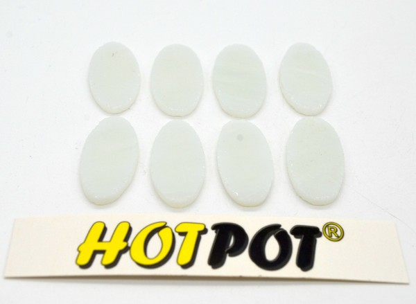 Oval, weiß, 3,5cm