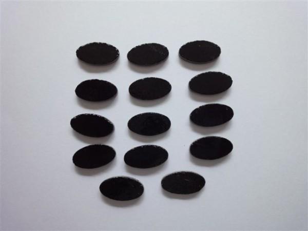 Oval, schwarz, 2cm