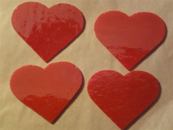 Herz, opal rot, 5cm