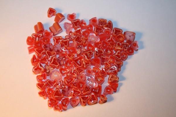 Millefiori Pink Heart, 50g, COE 90
