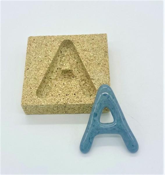Form aus Vermiculite Buchstabe A