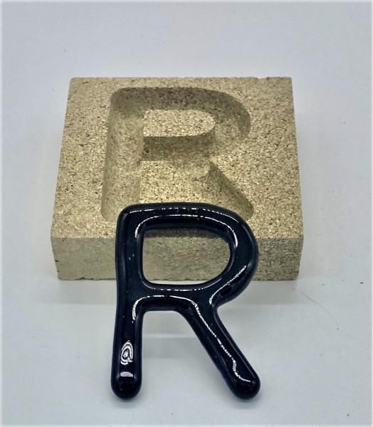 Form aus Vermiculite Buchstabe R