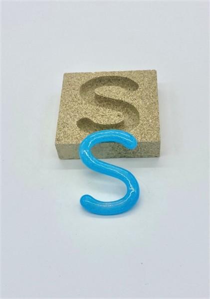 Form aus Vermiculite Buchstabe S