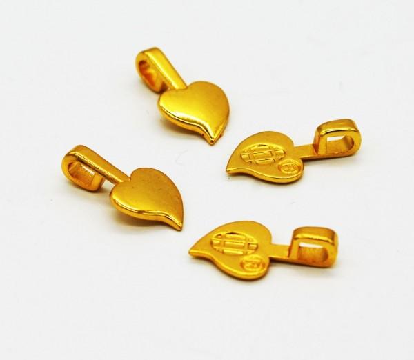 Aanraku ® 18k vergoldeter Herzanhänger mittel 24 Stück