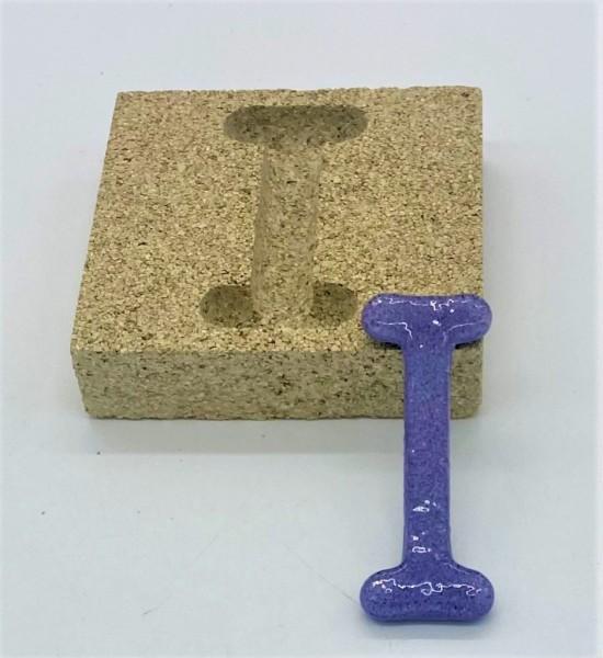 Form aus Vermiculite Buchstabe I