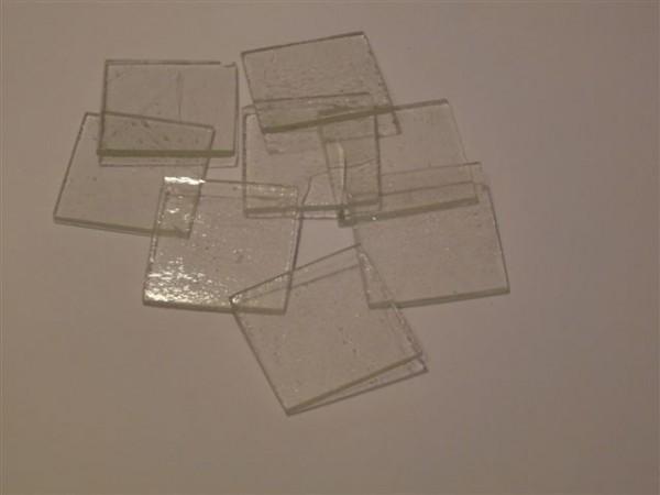 Quadrat, klar, 3,5cm