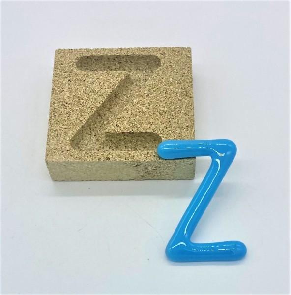 Form aus Vermiculite Buchstabe Z